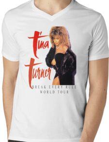 Tina Turner - World Tour - Reproduction Concert Tee 1987 Mens V-Neck T-Shirt