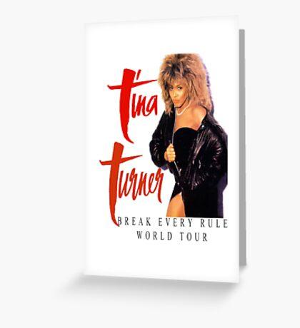 Tina Turner - World Tour - Reproduction Concert Tee 1987 Greeting Card