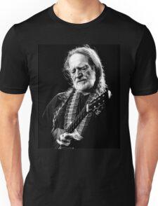 Willie Nelson Perform Black White Unisex T-Shirt