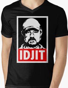 "Supernatural Bobby Singer ""IDJIT"" Mens V-Neck T-Shirt"