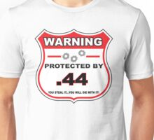 44mag Protected by 44mag Shield Unisex T-Shirt
