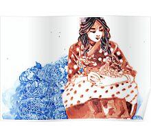 Polka Dot Hanbok Poster