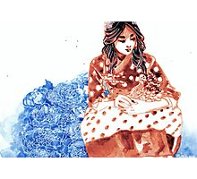 Polka Dot Hanbok Photographic Print