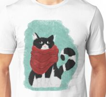 Cute Cozy Black and White Cat Unisex T-Shirt