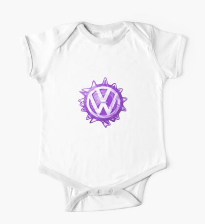 Purple VW look-a-like Swirl One Piece - Short Sleeve