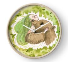 Woodland Elf and her Bear Clock