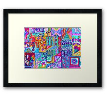 Rectangles and Squares Filled With Color and Design Framed Print