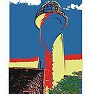 Lighthouse lithograph by Mark Malinowski