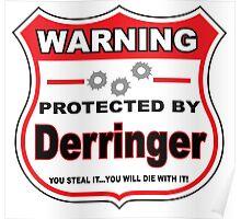 Derringer Protected by Derringer Shield Poster