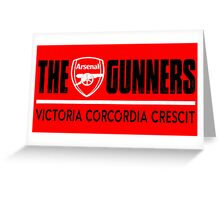 The Gunners - Arsenal - Victoria Corcordia Crescit Greeting Card