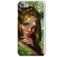 Centaur girl portrait iPhone Case/Skin