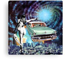 Nude Hitchhiker Canvas Print