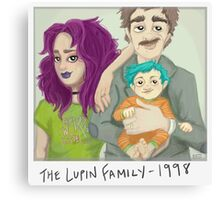 The Lupin Family Canvas Print