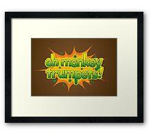 Oh Monkey Trumpets! Framed Print
