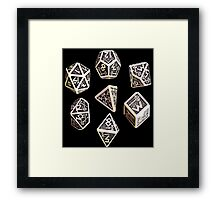 dungeons and dragons dice game shirt Framed Print