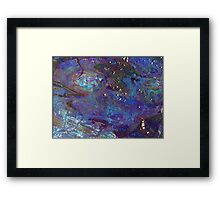 Rocklea Geology in blue Framed Print