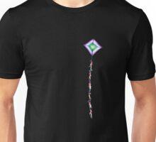 Kite on a black background Unisex T-Shirt