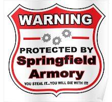 Springfield Protected by Springfield Poster