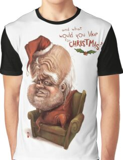 """Santa - """"And what would you like for Christmas?"""" Graphic T-Shirt"""