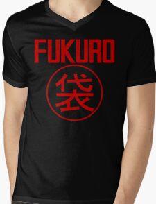 FUKURO (Red) Mens V-Neck T-Shirt