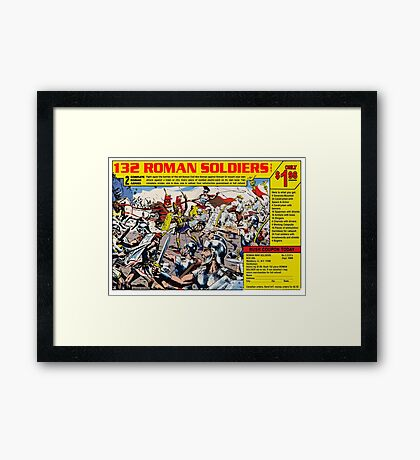 Roman Soldiers Comic Book Ad Framed Print