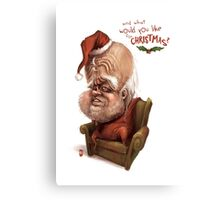 "Santa - ""And what would you like for Christmas?"" Canvas Print"
