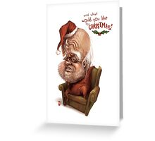 "Santa - ""And what would you like for Christmas?"" Greeting Card"