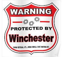 Winchester Protected by Winchester Poster