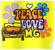 Peace love MG Poster