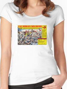 Roman Soldiers Comic Book Ad Women's Fitted Scoop T-Shirt