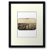 London From Above - Sepia Framed Print