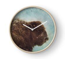 Wood Buffalo Clock