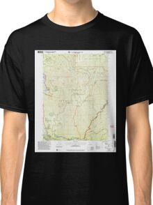 USGS TOPO Map California CA Somes Bar 295263 2001 24000 geo Classic T-Shirt