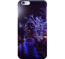 Riverwalk,  Christmas Lights iPhone Case/Skin