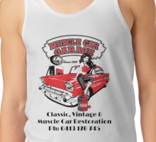 Lous Muscle Car Garage Tank Top