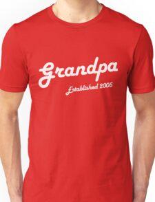 Grandpa Established Est 2005 New Baby T-Shirt  Unisex T-Shirt