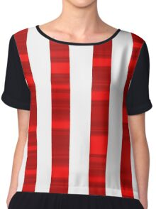 Red and white stripes Chiffon Top