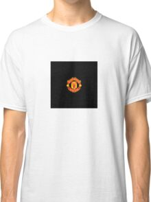 manchester United Black Background Classic T-Shirt