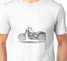 Vintage motorcycle hand-drawn illustration Unisex T-Shirt