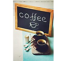 Morning Coffee Table Photographic Print