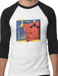 Reel To Reel Pop Art Men's Baseball ¾ T-Shirt