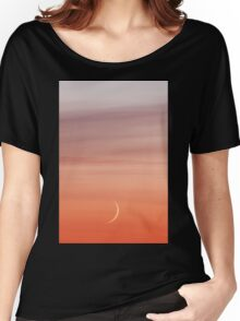 Moon crescent and sunset sky Women's Relaxed Fit T-Shirt