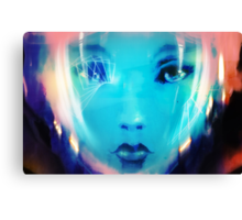 Space Girl Launch Time Canvas Print