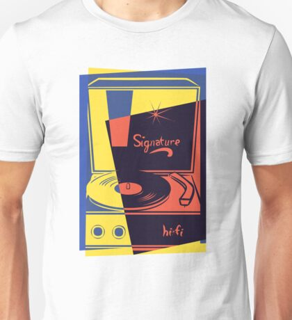 Vintage Vinyl Turntable Unisex T-Shirt