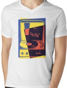Vintage Vinyl Turntable Mens V-Neck T-Shirt