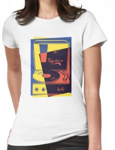 Vintage Vinyl Turntable Womens Fitted T-Shirt