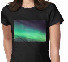 Northern lights close-up Womens Fitted T-Shirt