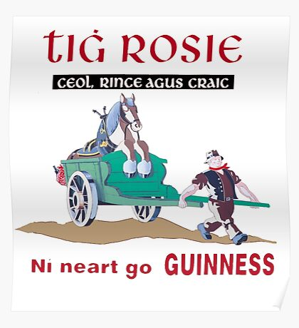 Guinness Gaelic Vintage Poster Poster