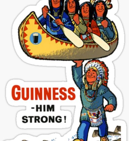 Guinness Native American Ad Sticker