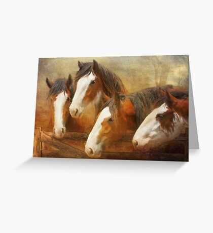 Faces Of Four Greeting Card
